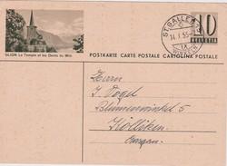 SUISSE  ENTIER POSTAL CARTE ILLUSTREE ST.GALLEN 1955 - Interi Postali
