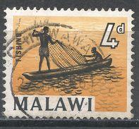 Malawi 1964. Scott #9 (U) Fisherman, Boat, Bateau, Pêcheur - Malawi (1964-...)