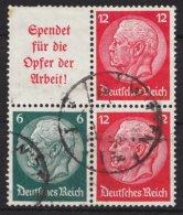 """Hindenburg/ Medaillon"",2 Versch. ZD Mit 4er Block,  Bedarfsstück, O - Zusammendrucke"
