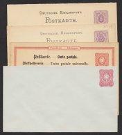 """4 Versch. GS """"Pfennig"""", Dabei Doppelkarte, * - Deutschland"""