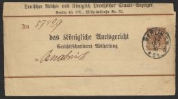 """""""Reichs- Anzeiger"""", Bedarf, """"Berlin"""", 1890, S8 Z 2/02, O - Deutschland"""