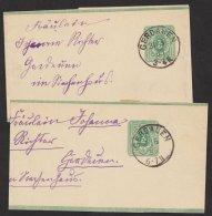 "2 Saubere Bedarfsstücke ""Gerdauen"", 1883, S6, O - Deutschland"