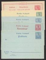 """5 Versch. GS """"Germania/ Reichspost"""", * - Deutschland"""
