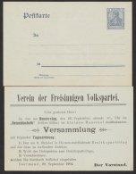 """Zudruck """"Freisinnige Volkspartei"""", Dortmund, 1904, P63x, * - Deutschland"""