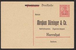 """Zudruck """"Dürninger & Co, Herrnhut"""", P107, * - Deutschland"""