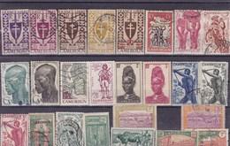 CAMEROUN :  Y&T : Lot De 25 Timbres * Et O - Cameroun (1915-1959)