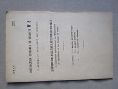 SNCF 1941. Instruction Generale De Securite No.8. Dispositions Relatives Aux Signaux D'arret. - Ferrocarril