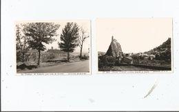 LE PUY ET LE CHATEAU DE POLIGNAC (HAUTE LOIRE) 2 PHOTOS TIREES D'UN ALBUM 1963 - Places