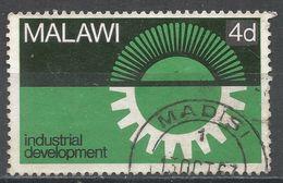 Malawi 1967. Scott #75 (U) Sun, Cogwheel, Soleil, Roue Dentée - Malawi (1964-...)