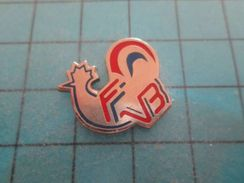 Pin810H Pin's Pins : BEAU ET RARE : COQ POULE POULET FFVB FEDERATION FRANCAISE VOLLEY-BALL - Volleyball