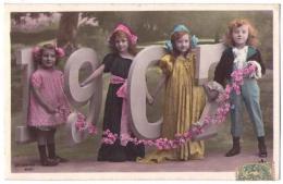 (Nouvel An) 046, Bonne Année 1905, Etoile Série 3098, Enfants - Nouvel An