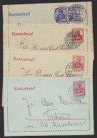 """""""Germania"""", 4 Versch. Kartenbriefe, Alle Mit Rand, O - Deutschland"""