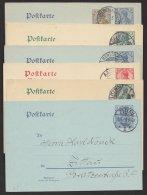 """""""Germania"""", 6 Versch. Bedarfskarten, Dabei Ausland Und Komplette Doppelkarte, O - Deutschland"""