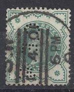 GB 1900 QV. 1/2d (o) SG.213. Mi.100. (perfin. C.E.W) - Great Britain