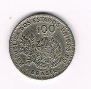 )   BRAZILIE  100  REIS MCMI ( 1901 ) - Brésil