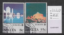 Malte Oblitérérs, No: 747/8, Coté 6 Euros, USED - Malta