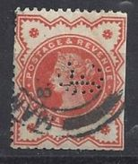 GB 1887 QV. 1/2d (o) SG.197e. Mi.86. (perfin. CL.)Mono. - Great Britain