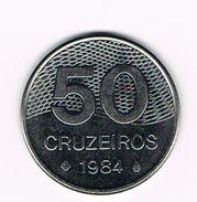 )  BRAZILIE  50 CRUZEIROS  1984 - Brésil