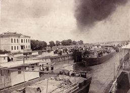 """GREECE & ROMANIA ~ 1915 : BATEAU GREC """" ΙΣΑΒΕΛΛΑ"""" / """"ΝΙΚΟΛΑΟΣ"""" à TURTUCAIA - PORT / DANUBE - PHOTO ~ 11 X 15 CM (w-810) - Grèce"""