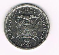 ) ECUADOR  50 SUCRES  1991 - Equateur