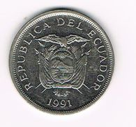 ) ECUADOR  50 SUCRES  1991 - Ecuador