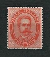 ITALIA 1879 - Effigie Di Umberto I - 2 L. Vermiglio -  MH - Sassone 43 - 1878-00 Umberto I