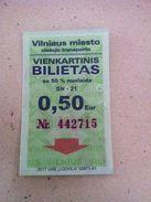 Lithuania Vilnius One Way Ticket - Bus 2017 - Bus
