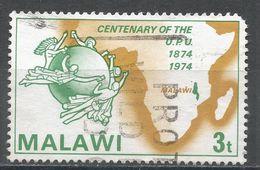 Malawi 1974. Scott #221 (U) UPU Emblem, Map Of Africa - Malawi (1964-...)