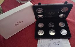 AUSTRALIA AUSTRIA CANADA FRANCE GREECE SILVER PROOF FULL SET OLYMPIC GAMES 1996 COIN (free Shipping Via Registered) - Specimen