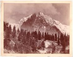 Foto Albumina Il Monte Bianco Dal Versante Italiano - Foto