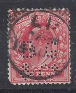 GB 1902 KE VII. 1d (o) SG.219. Mi.104. (perfin. B G & Co) - Great Britain