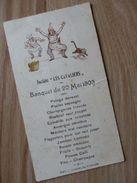 """LA LOUVIERE - Menu De La Société """"Les Cavaliers"""" - 1903 TRES RARE - Menus"""