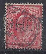 GB 1902 KE VII. 1d (o) SG.219. Mi.104. (perfin.D H E) - Great Britain