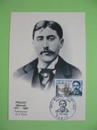 Carte-Maximum N° 1472 Marcel Proust écrivain  1966 Cachet  Paris - Maximum Cards