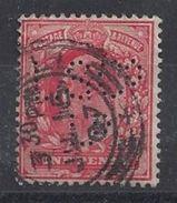 GB 1902 KE VII. 1d (o) SG.219. Mi.104. (perfin.L S Co Ld) - Great Britain