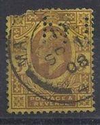 GB 1902 KE VII. 1d (o) SG.219. Mi.104. (perfin.M U) ? - Great Britain