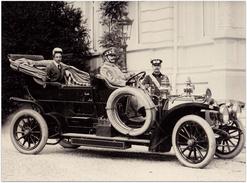 Prinz August Wilhelm Von Preußen 1903 Mit Mercedes-Kettenwagen | Mercedes-Pressefoto 21,6 X 16,4 Cm | 1700354 - Automobiles