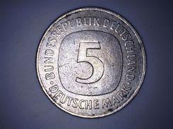 Allemagne - 5 Deutsche Mark 1975 J - [ 7] 1949-… : RFA - Rép. Féd. D'Allemagne