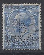 GB 1912-21 KG V. 2.1/2d (o) SG.371. Mi.131X. (perfin.B W & Co) - Great Britain