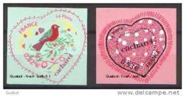 France Autoadhésif N°   50 Et 51 Aux Modèles N° 3747 & 3748 ** Cacharel - Coeurs  De La Saint Valentin - Sellos Autoadhesivos