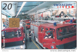 SWITZERLAND - Fire Station/Lucerne, 12/99, Used - Firemen