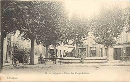 - Vaucluse -ref-A458- Avignon - Place Des Corps Saints - Magasin Papiers Peints - Marbres - Magasins - Fontaine - - Avignon