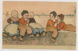 Illustrateur, Etheld Parkinson : Enfants Sur Un Muret (hm089) - Parkinson, Ethel