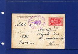"""##(RED) - Italia-1934-cent.20  Anno Santo Isolato Su Cartolina """"Il Messaggero Del S.Bambino Gesù"""" Da Genova Per La Città - 1900-44 Victor Emmanuel III"""