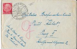 1941 - SUDETES - ENVELOPPE De TACHAU => PRAGUE - Allemagne