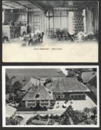 MÜNSINGEN BE Aaretal Hotel LÖWEN Flugaufnahme Innenansicht Bauernstube 2 Karten - BE Bern