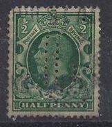 GB 1934  KG V. 1/2d (o) SG.439. Mi.175. (perfin.G) - Great Britain