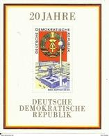 """DDR Bl. 28 """"20 Jahre DDR.""""  Postfrisch.Mi 2,20 - Blocchi"""