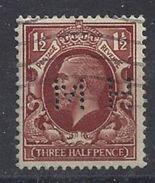 GB 1934  KG V. 1.1/2d (o) SG.441. Mi.177. (perfin.M H) - Great Britain