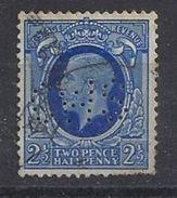 GB 1934  KG V. 2.1/2d (o) SG.443. Mi.179. (perfin.CWS) - Great Britain